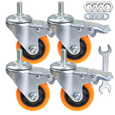 Stem Casters Heavy Duty Swivel Threaded Stem Caster Wheels With 3 Inch Pack Of 4