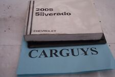 2005 CHEVROLET SILVERADO   OWNERS MANUAL WITH  CASE