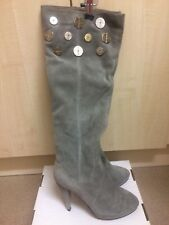 Ladies grey suede knee high boots, Size 6, Brand: Friis Company
