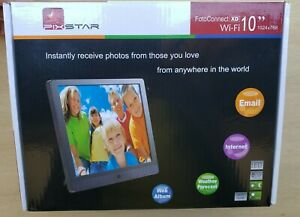 "PixStar 10"" 1024 x 768 8GB Cloud Digital FotoConnect XD Wi-Fi Photo Frame NEW !!"