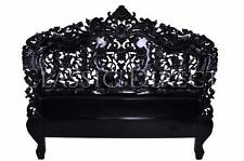 Sale - Bed Head Queen Rococo Hand Carved Black Gloss SRP $1400