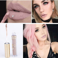 Damen Matt Lippenstift wasserdicht Lippen Stift Lip Gloss Make up Nude Farb J0D8