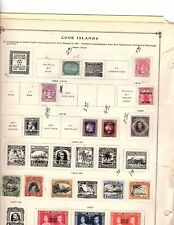 COOK ISLANDS, BRITISH:STAMP COLLECTION on album page 22 stamps mh and used (mb10