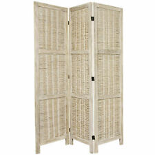 Oriental Furniture 5 1/2 ft. Tall Bamboo Matchstick Woven Room Divider