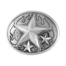 Silver Nautical Stars & Flames Belt Buckle