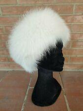 FOX FUR HAT CAPPELLO bianco PELLICCIA  VOLPE FOURRURE chapeau PELZ renard lapin