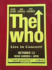 THE WHO Original Concert Poster Gig Flyer Portland 1996