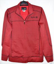Buckle Hurley Faculty Jacket Red/Black Fleece Lined Men's M
