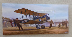 2017 JERSEY CENTENARY WWI WAR IN THE AIR STAMP MINI SHEET MNH