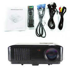 4000 Lumens 3D Portable Office Home Theater Projectors Hd 1080p LED Short Throw