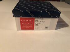 100/ BX CRANE'S LETTRA Pearl White Envelopes 7 x 7 mrq ptd Ungummed -4 boxes