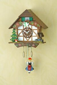 German Black Forest swing cuckoo clock with Quartz movement & cuckoo