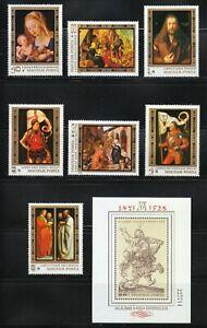 Hungary 1979 MNH Mi 3326-3332 + Block 136 Sc 2557-2564 Albrecht Durer,paintings