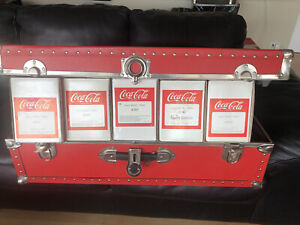 LGB Coca Cola Coke Car Custom Collection, 5 Different New Box Cars In Red Trunk!
