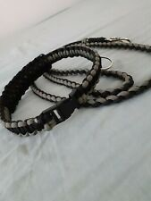 Paracord biothane dog collar & lead Paracord Dog Leash, black and grey