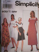 7516 Simplicity SEWING Pattern EZ Misses Dress UNCUT FF