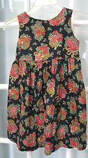 Girls size 6 Poinsettia Christmas dress jumper holiday flowers handmade custom