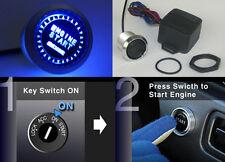 12V Engine Start Push Button Switch Ignition Starter Kit Blue Led Fit All Cars