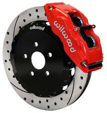 "WILWOOD DISC BRAKE KIT,FRONT,00-05 ECHO,04-06 SCION xA,xB,13"" DRILLED ROTORS,RED"