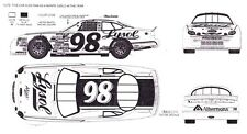 #98 Elton Sawyer Lysol Ford 1/32nd Scale Slot Car Waterslide Decals