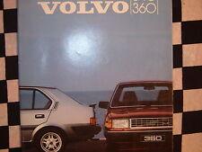 rare brochure VOLVO 340 / 360 GLT / GLS / GL / 1984 couleurs français