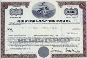 Sohio/BP Trans Alaska Pipeline Finance Inc. 1975, 8 5/8% Note d. 1983 (10.000 $)