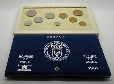 France 1981    Monnaie De Paris Fleurs De Coin FDC  9   Coin Set With Box & COA