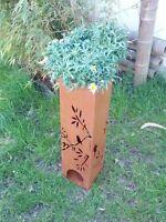 Pflanzschale,Edelrost Ständer übertopf GartendekoRost Kerzenleuchter Metall 40cm
