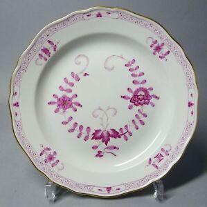(G2903) Meissen Teller, Indisch purpur, Goldrand, Durchmesser 22 cm