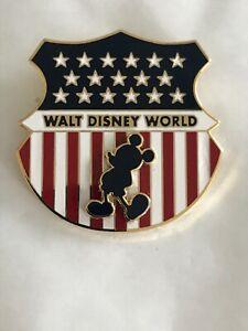 Disney Pins WDW Mickey Mouse Flag Shield