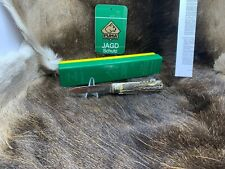 Pre 1964 Vintage Puma 943 Jagdmesser Knife With Stag Handles Mint Factory Box