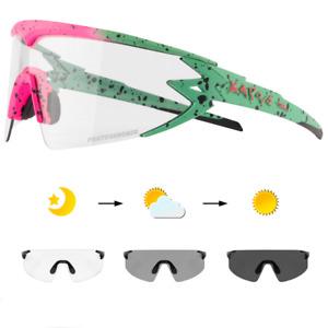 Photochromic Sunglasses Chameleon Cycling Goggles UV400 Transition Glasses