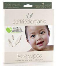 Baby Face Wipes Pkt 2 Organic Cotton Nature's Child