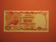 INDONESIA 1984 100 RUPIAH BANKNOTE UNC Paper Money Currency bird Goura Victoria
