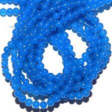 """GR232 Bright Blue Candy Jade 4mm Round Quartz Gemstone Beads 15"""""""