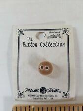 NEW Mill Hill Handmade Ceramic Button for Cross Stitch SMALL ROUND BEIGE BUTTON