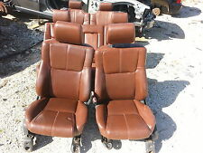 06 Jeep Commander XK saddle brown leather seats front & middle row