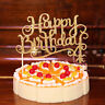 Glitter Happy Birthday Flag Cake Topper Decoration Party Favors Decorations NEW