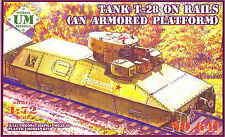 UM Military Technics 641 T-28 tank on rails (armored platform) 1/72