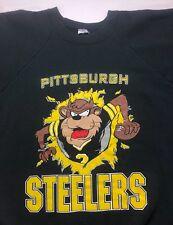 Vintage Mens M/L 90s Pittsburgh Steelers Looney Tunes NFL Football Black Sweater