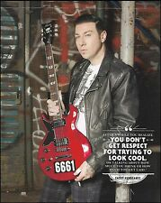Avenged Sevenfold  Zacky Vengeance Schecter 6661 Guitar 8 x 11 pinup photo