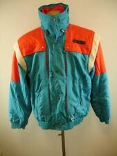 Mens XL Vtg Descente US Ski Team Jacket Blue Orange Entrant Hidden Hood Colorful