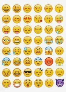 Emoji Stickers Smiley Face Die Cut Phone Tablet Decor Scrapbooking Labels
