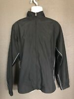 Men's CHAMPION Black Full Zip Jacket / Windbreaker (Size Large)