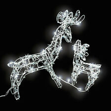 LED Iluminación navideña de exterior  renos decoración jardín casa luz navidad N