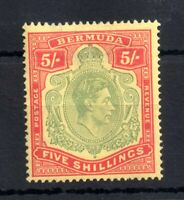 Barbados KGVI 1939 5/- pale green & red P14 SG118A mint LHM WS13091