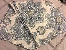 NIP Pottery Barn Ivory Multi Warm Colors LINDEN PAISLEY Duvet Cover FULL//QUEEN