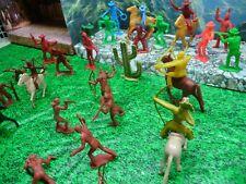 MARX,TM /BETON  VINTAGE  LOT INDIANS/COWBOYS    MATCH COLOR  DEAL , LOOK@@