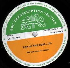 BBC 316 Transcription Disc TOP of POPS T. Rex Marc Bolan Bee Gees Curved Air