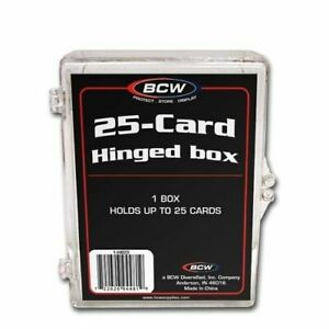 (Pack of 6) BCW 25-Card Hinged Plastic Boxes Holders / Cases For Trading Cards